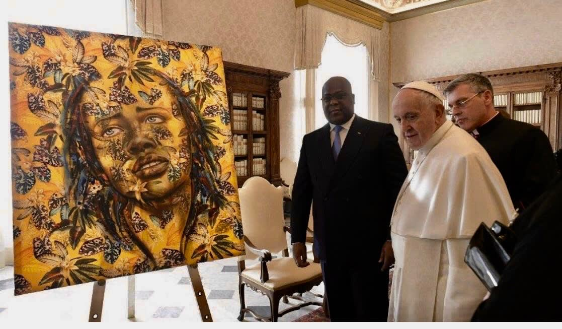 A painting from Demif Gallery offered to the Pope