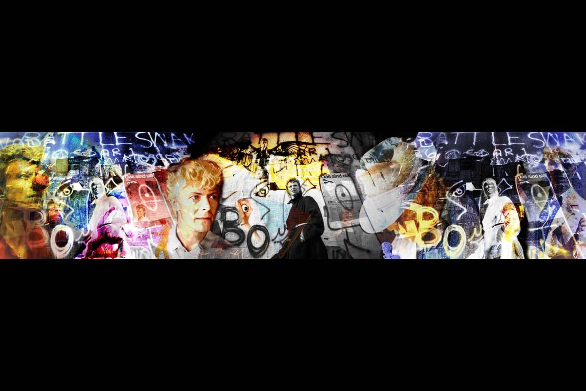 David Bowie montage print image