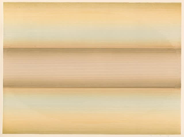 Edward Clark, Untitled (Peach/Pale), 1979