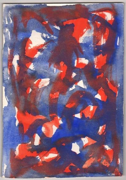 Beauford Delaney, Untitled (blue & orange), 1960