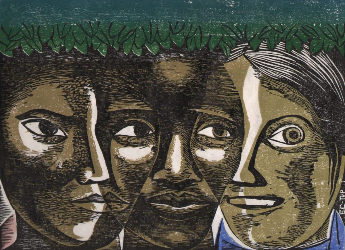 Elizabeth Catlett, American Women Unite (Unidad de la Mujer Americana), 1963