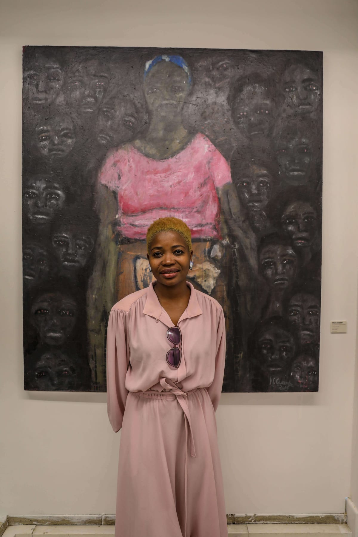 Nelly Guambe, Winner of the inaugural edition of the Emerging Painting Invitational Prize 2019. Courtesy of EAAGA.