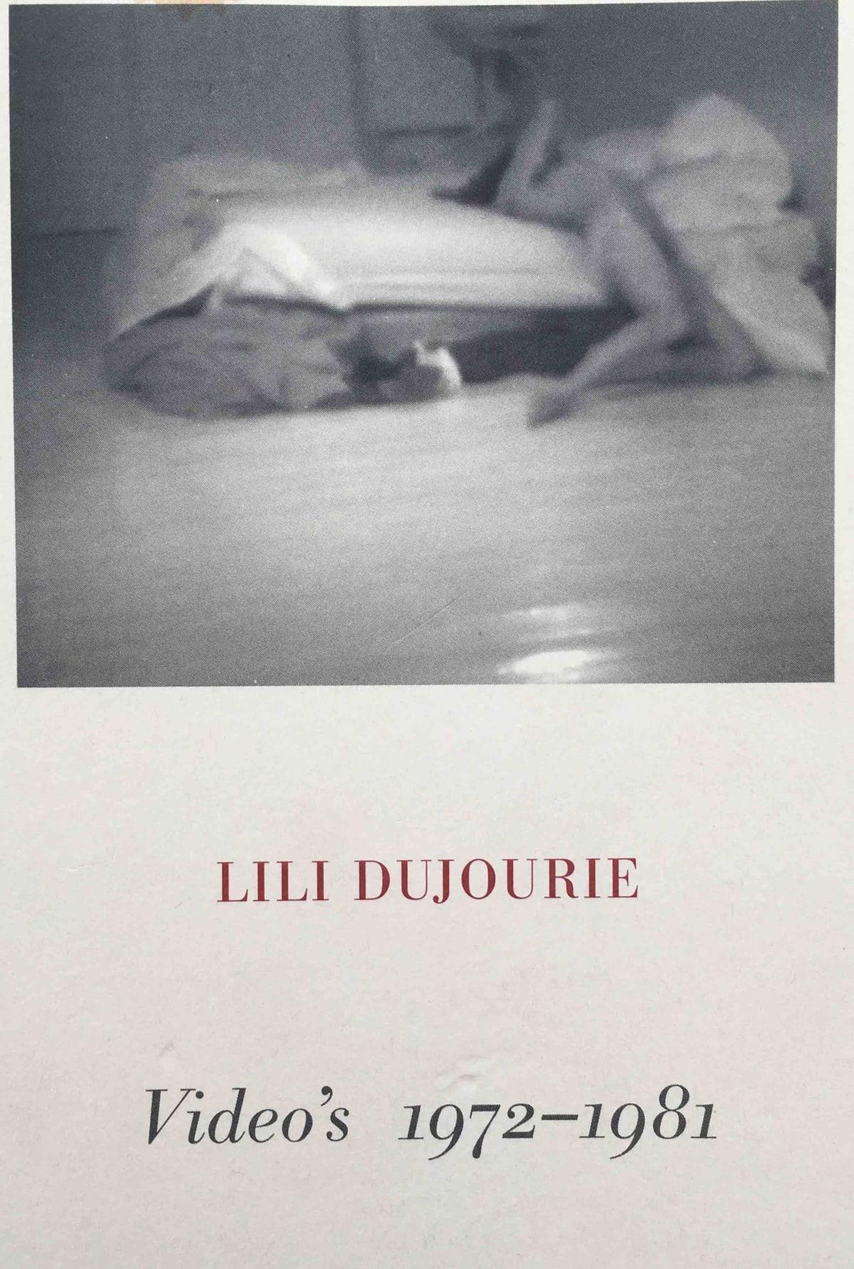 Videos 1972-1981_Lili_Dujourie_2002_book