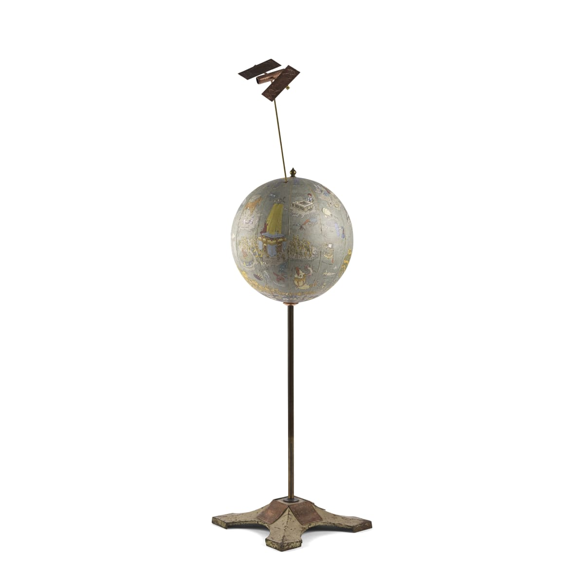 The Talosiad or the Mechanical Egg, Where the Satellite Navigation Guides the iEpic Peregrinations of a Heroic Android 2018; signed and titled mixed media | 85 x 26 cm