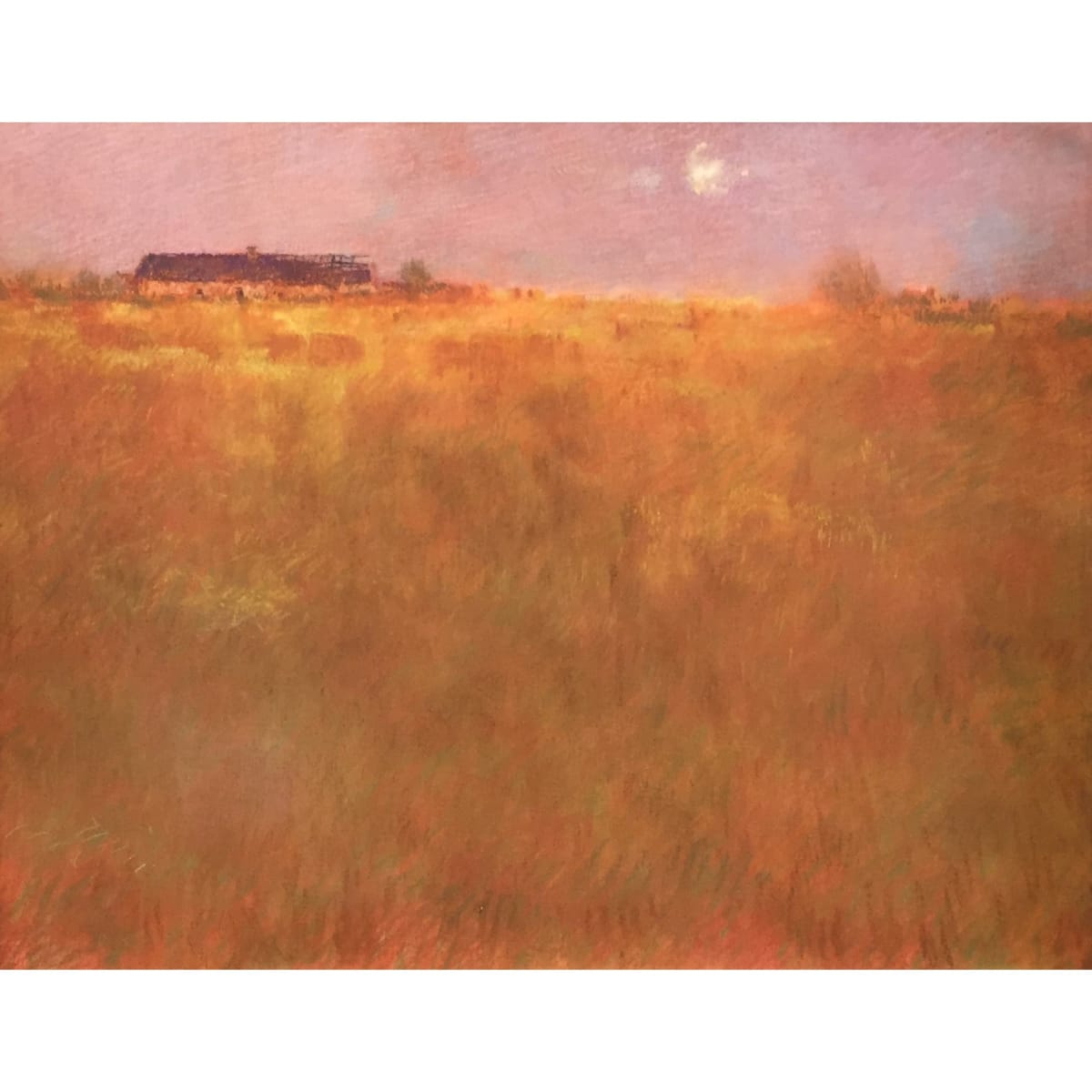 John Halliday Harvest Moon, Penicuik, c.1997 signed pastel on canvas 24 x 30 inches