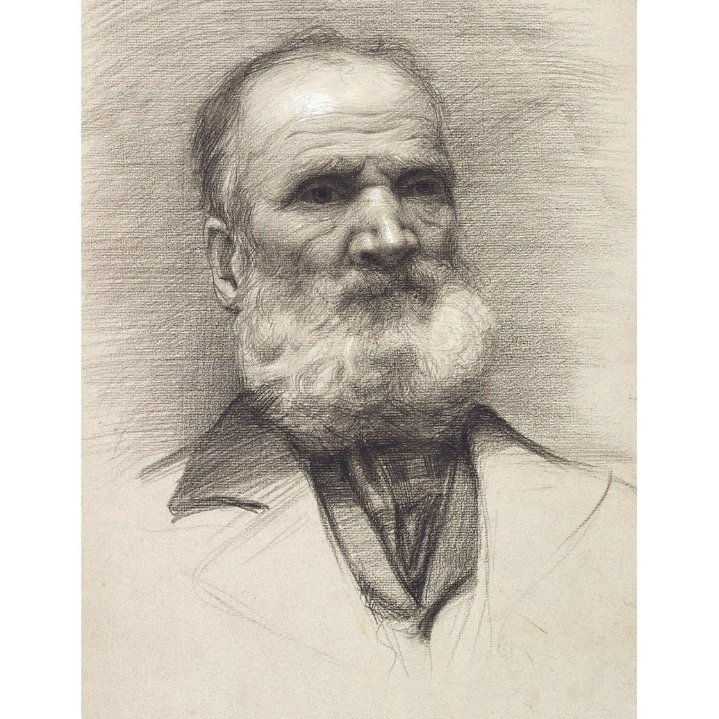 John Bulloch Souter Man with Beard charcoal on paper 18 3/4 x 12 inches