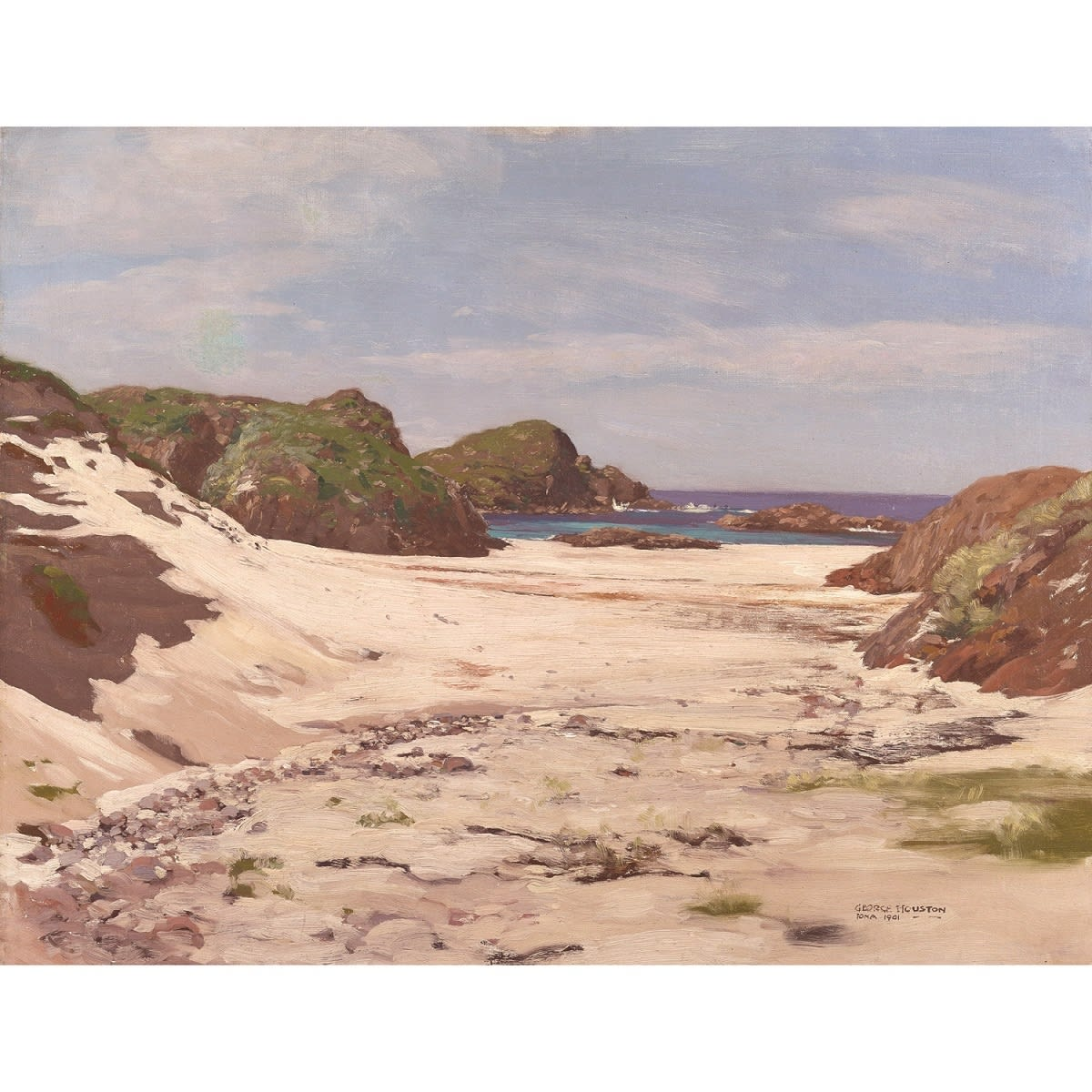 George Houston Iona, 1901 signed, titled and dated 1901 oil on canvas 28 x 36 inches