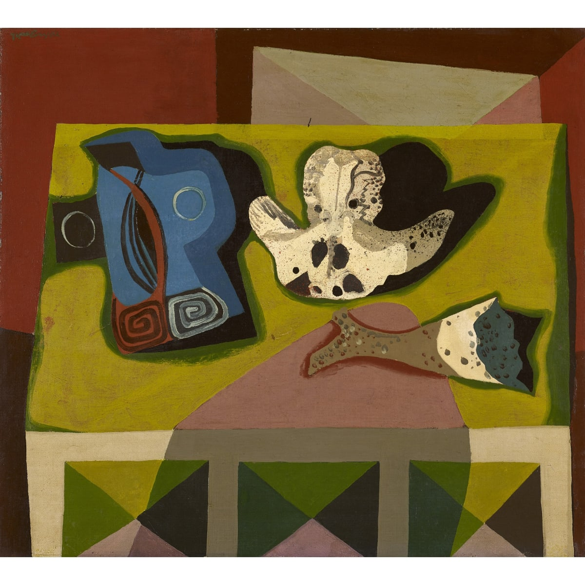 Robert MacBryde Still life with bones, c.1959 oil on canvas 18 x 20 inches