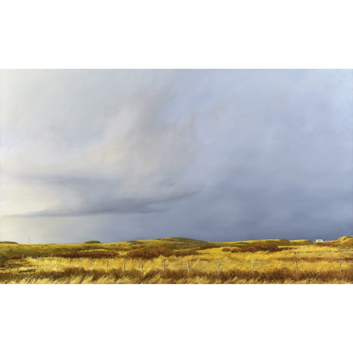 Victoria Orr Ewing Low winter sun, Ardnamurchan, 2016 initialled; titled, initialled and dated '16 verso oil on canvas 146 x 89 cm
