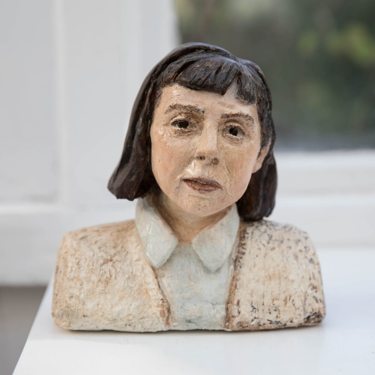Nicole Farhi Carson McCullers ciment fondu and acrylic; hand-painted bronze casts available to purchase 18 x 15 x 7 cm edition of 7 + 3 APs