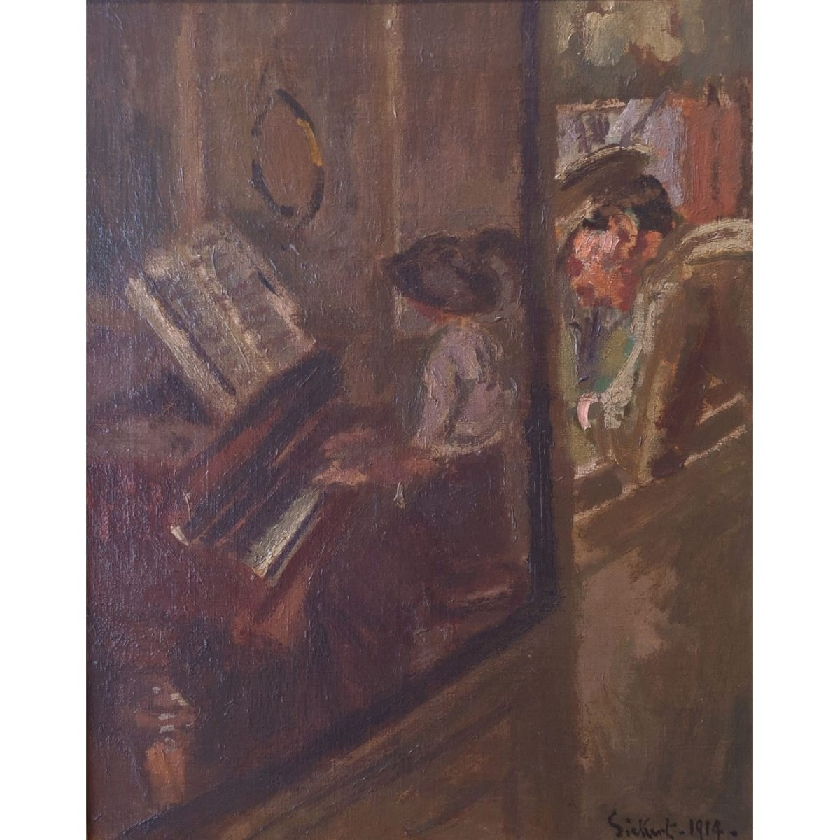 Walter Sickert Tipperary, 1914 signed and dated 'Sickert 1914' oil on canvas 20 x 16 inches