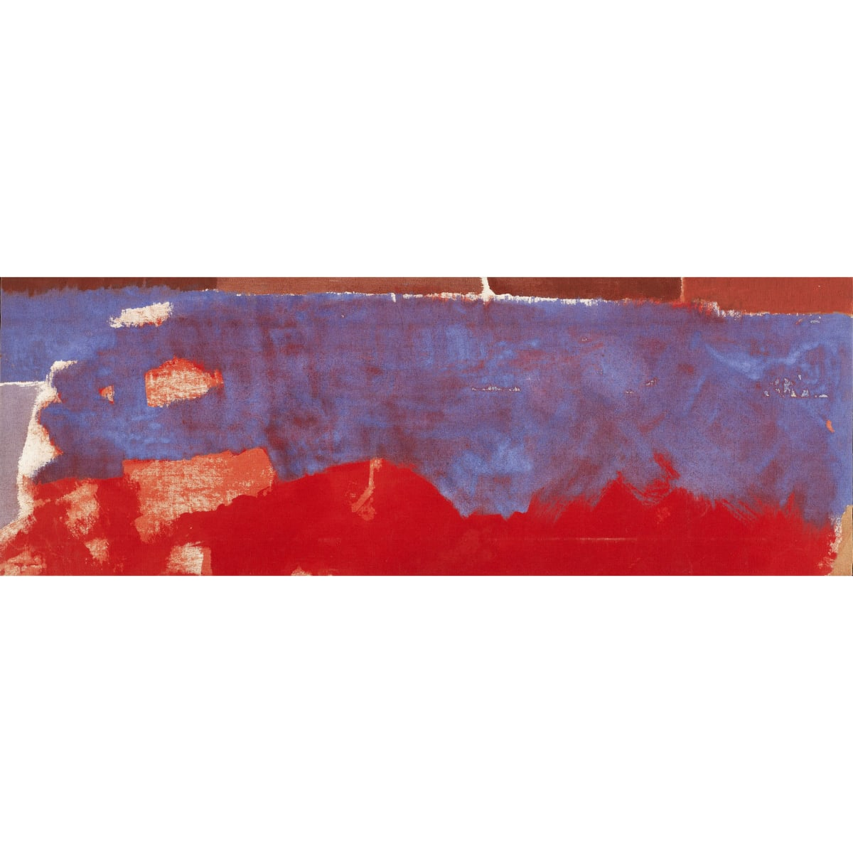 Talbert McLean Blue Ness signed and inscribed with titled verso oil on canvas 37 x 13 inches