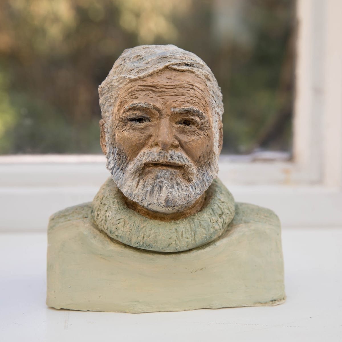Nicole Farhi Ernest Hemingway ciment fondu and acrylic; hand-painted bronze casts available to purchase 18 x 18 x 8 cm edition of 7 + 3 APs