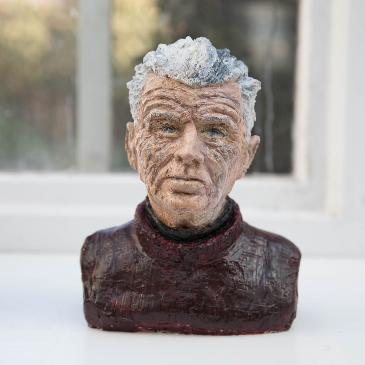 Nicole Farhi Samuel Beckett ciment fondu and acrylic; hand-painted bronze casts available to purchase 22 x 16 x 7 cm edition of 7 + 3 APs
