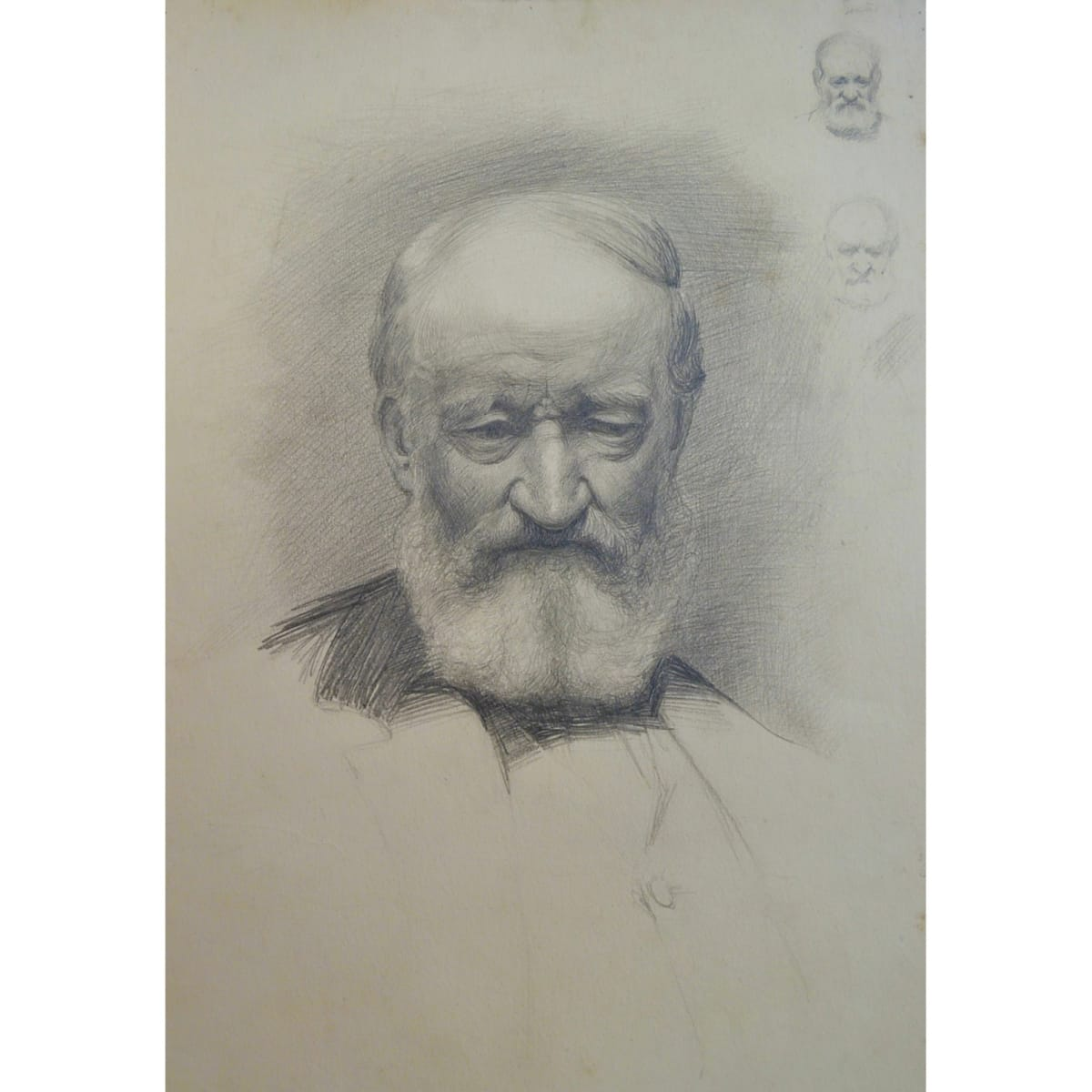 John Bulloch Souter Portrait of a Man with Beard signed pencil 20 x 13 1/2 inches