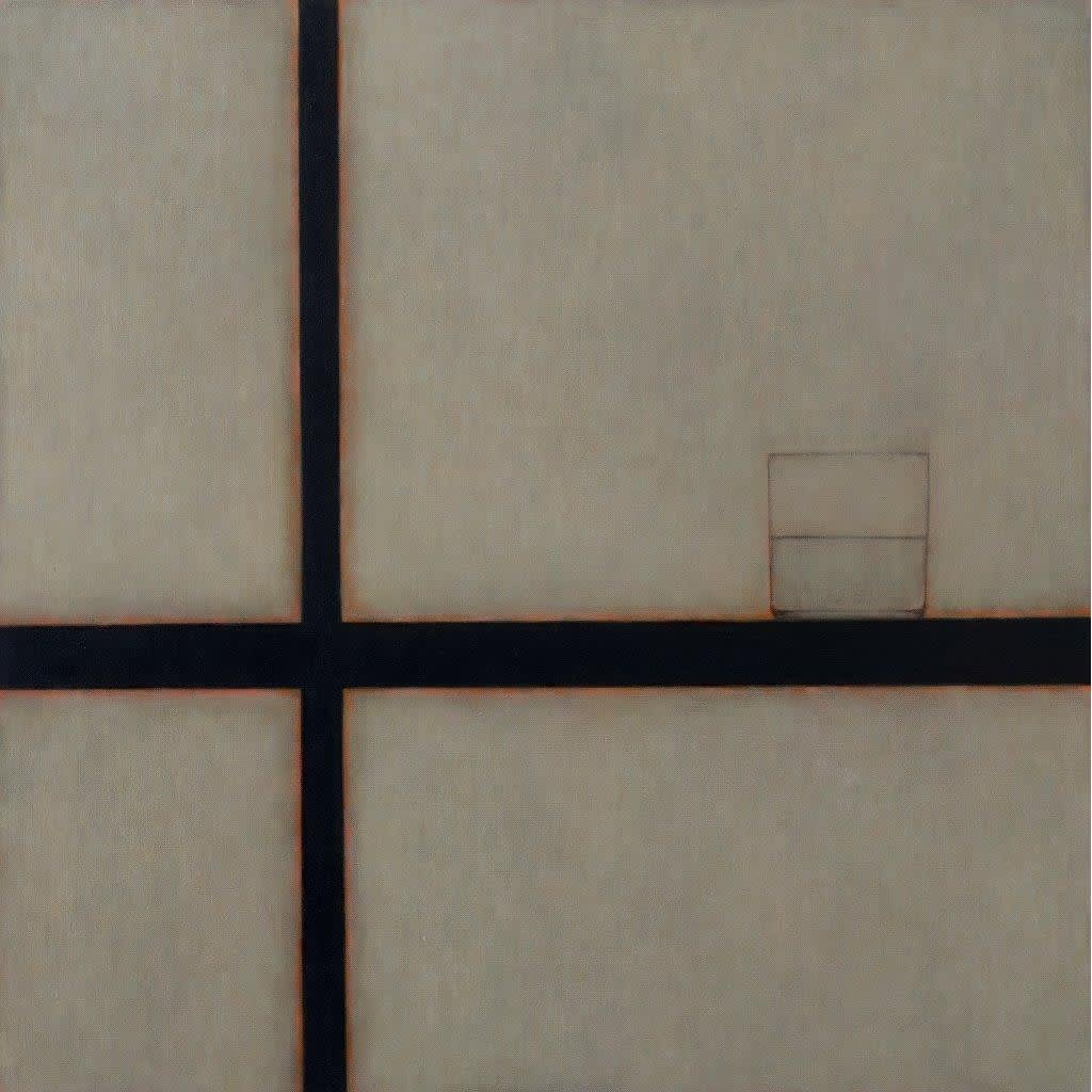 Emma Alcock Glass I, 2015 oil on canvas 66 x 66 cm