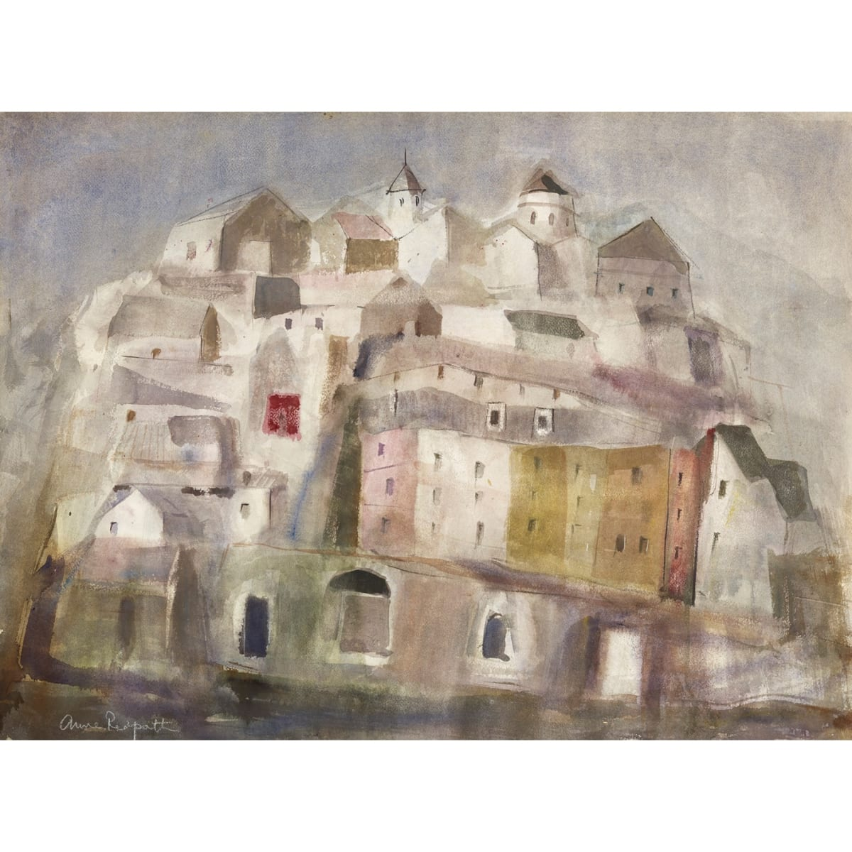 Anne Redpath A Town in Spain, c.1963 signed watercolour on paper 21 3/4 x 29 3/4 inches