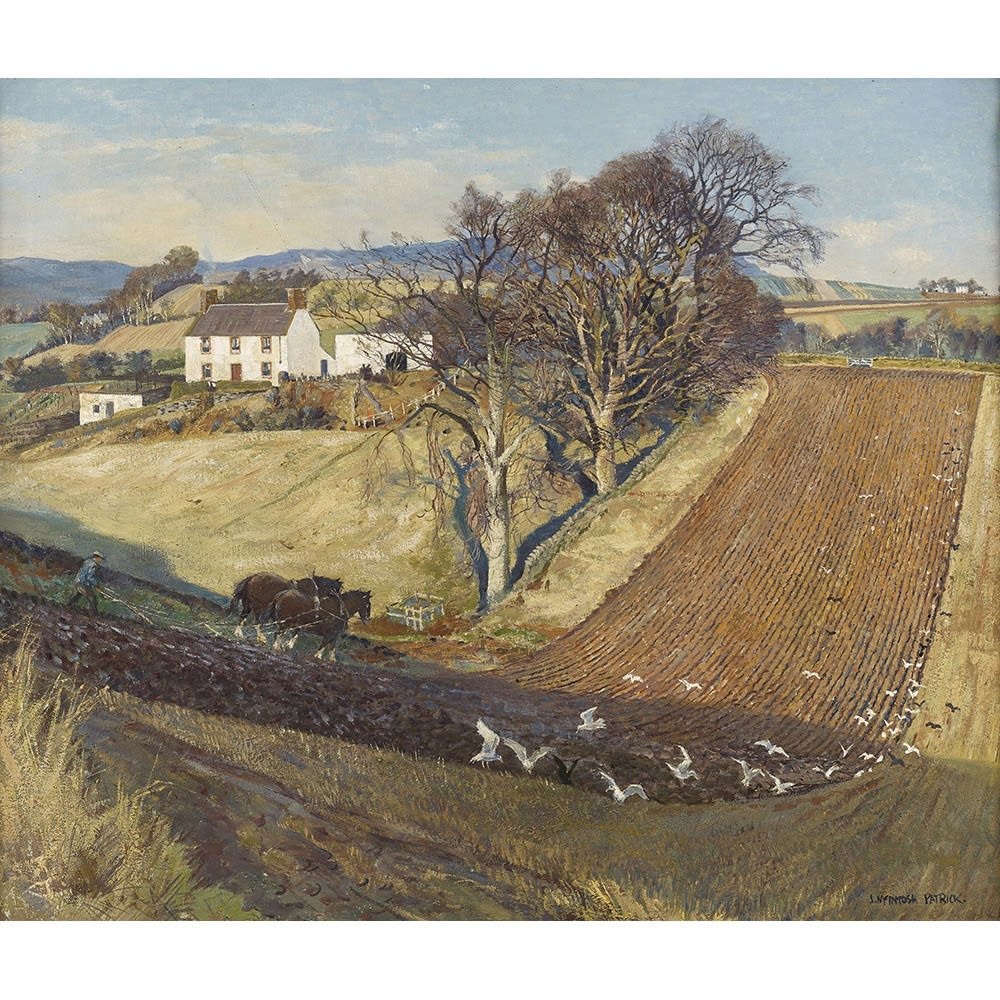 James McIntosh Patrick December ploughing signed; signed and titled verso oil on canvas 20 x 24 inches