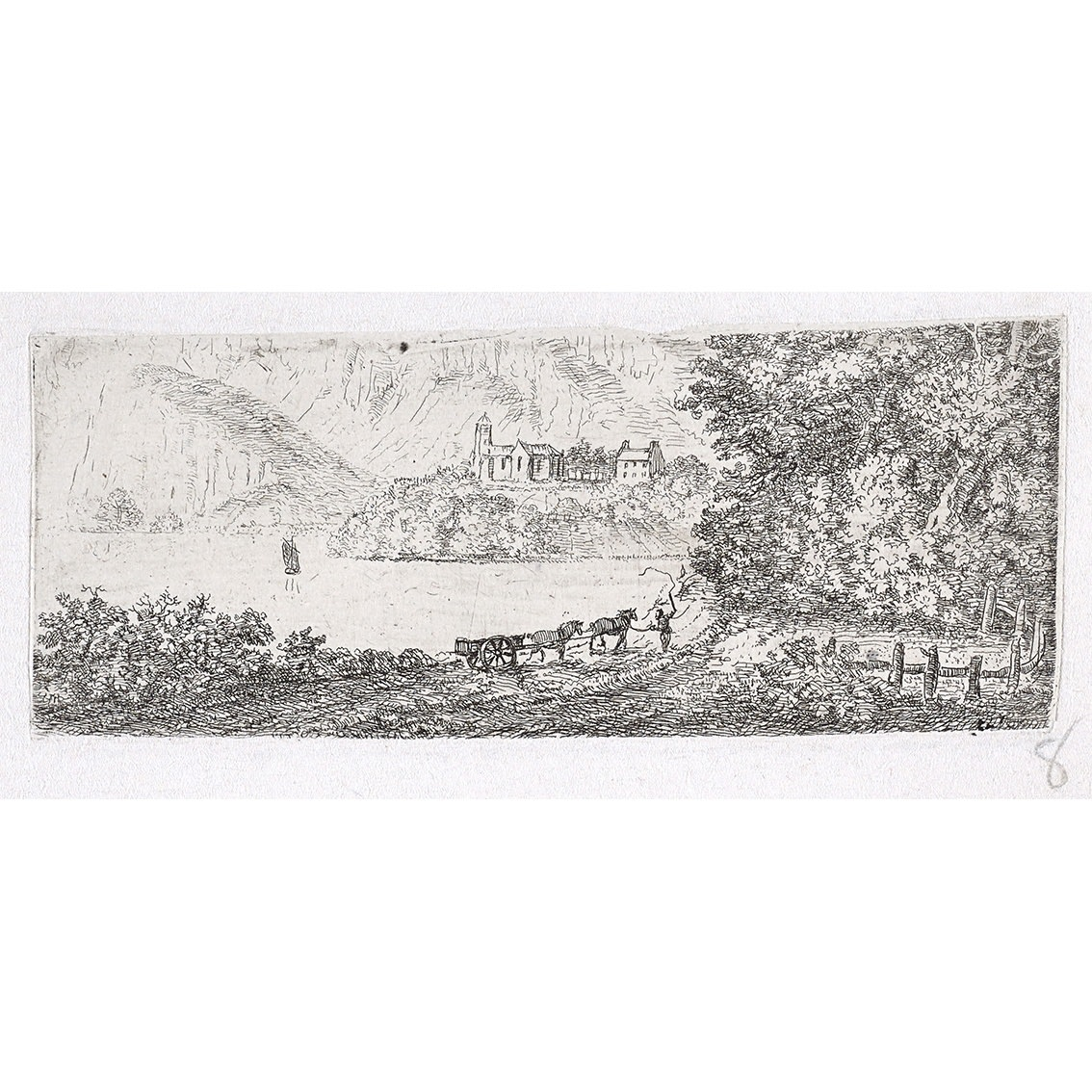 John Clerk of Eldin Duddingston etching 2 x 5 inches only state