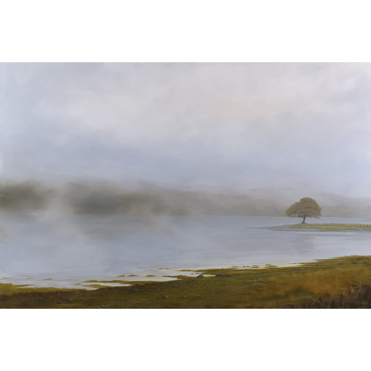 Victoria Orr Ewing Loch Eil, 2019 initialled and dated '19; titled, initialled and dated verso oil on canvas 146 x 97 cm
