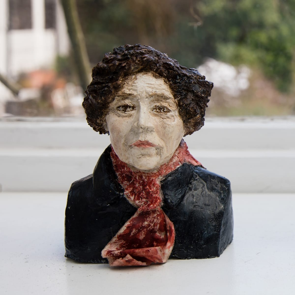 Nicole Farhi Colette ciment fondu and acrylic; hand-painted bronze casts available to purchase 17 x 12 x 6 cm edition of 7 + 3 APs