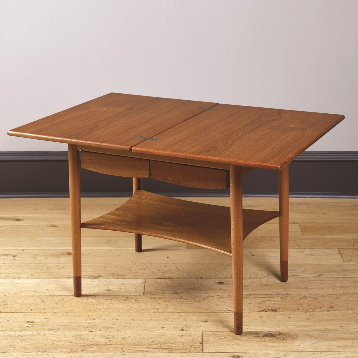 Borge Mogensen Card table teak and beech 24 x 26 (38 extended) x 19 inches