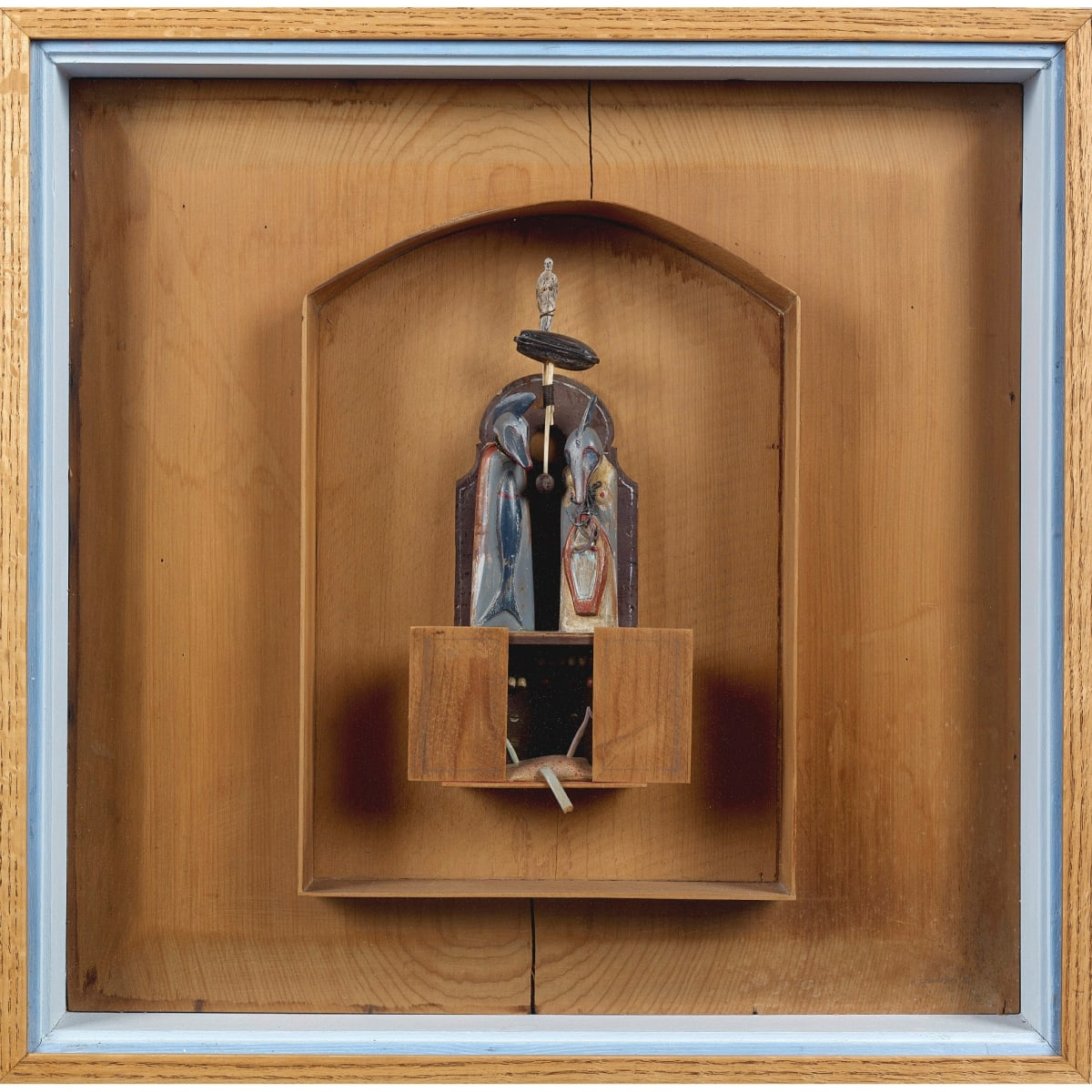 Will Maclean Icon for a Fisherman, 1978 signed and dated '78; signed and dated 78 on label verso mixed media construction 24 x 24 inches