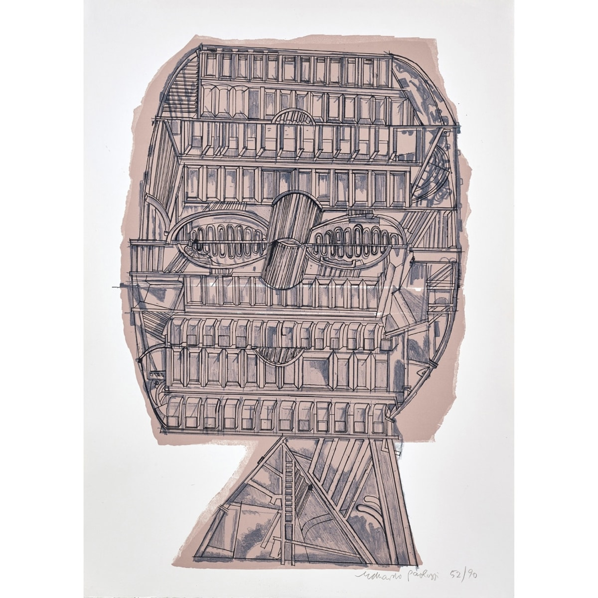 Sir Eduardo Paolozzi Untitled (from Homage to Picasso), 1974 signed and numbered 52/90 in pencil to margin lithograph 30 1/4 x 22 inches