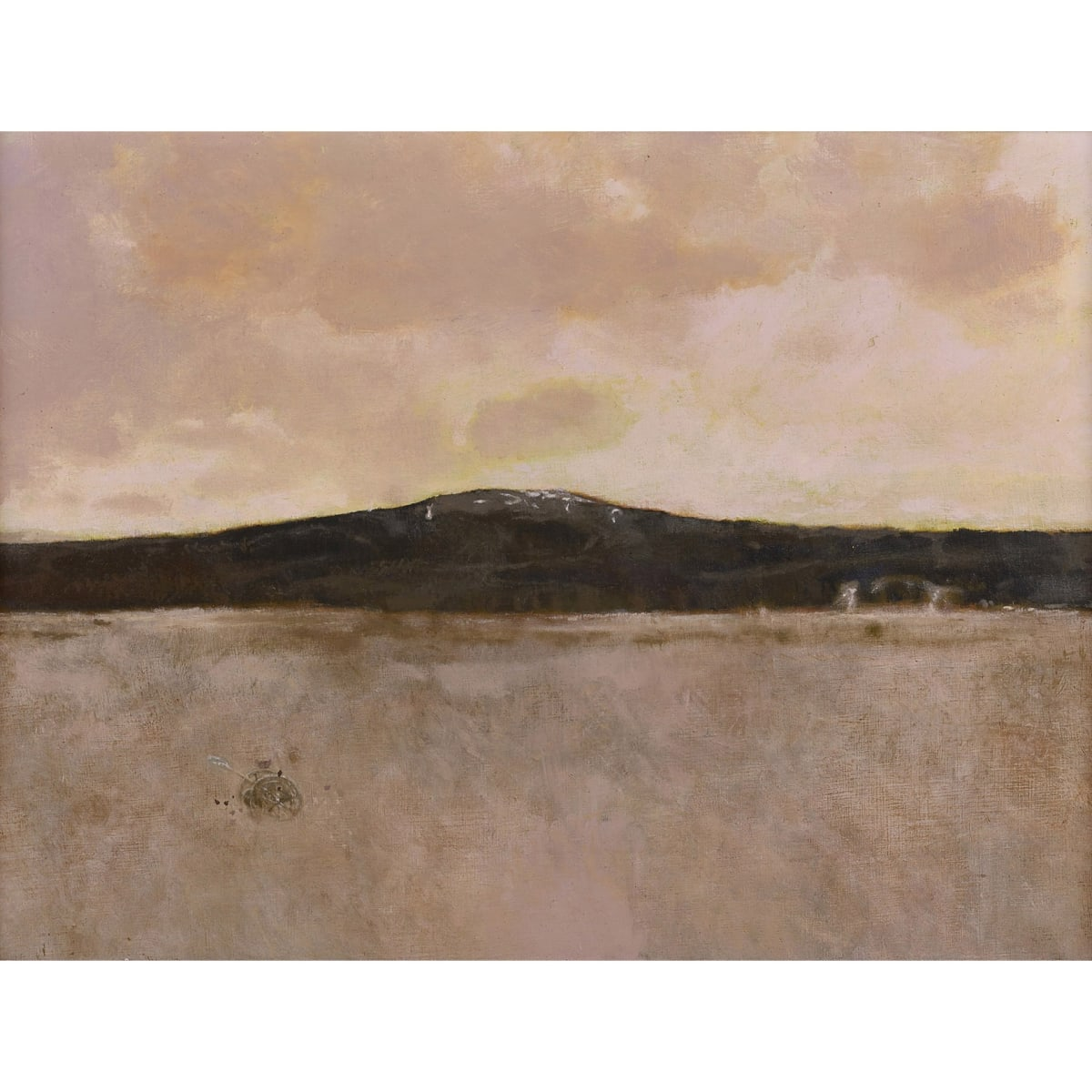John Halliday View from the studio at the Eyrie oil on canvas laid on board 27 1/2 x 37 inches