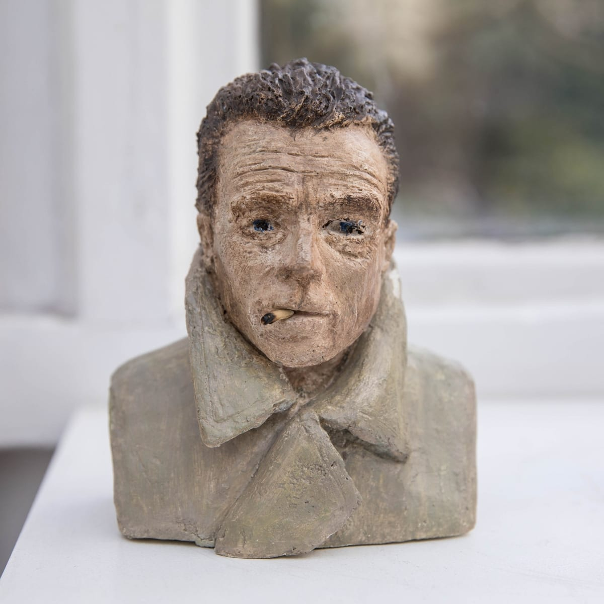 Nicole Farhi Albert Camus ciment fondu and acrylic; hand-painted bronze casts available to purchase 17 x 13 x 7 cm edition of 7 + 3 APs