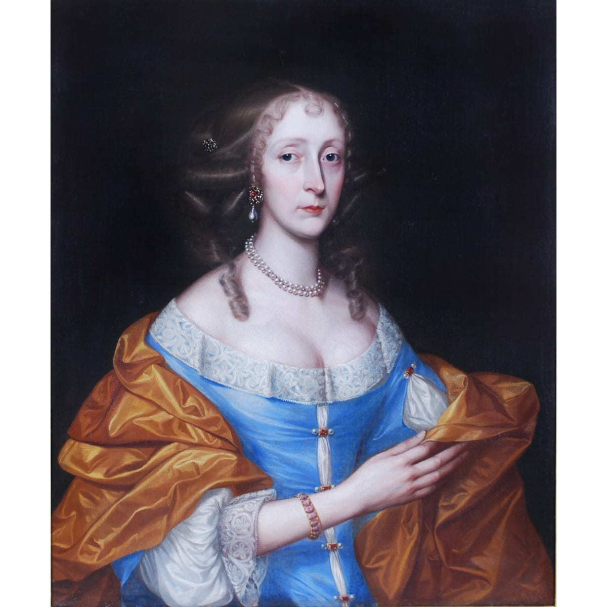 British School, 17th Century Portrait of a Lady, c.1680 oil on canvas 29 1/2 x 25 inches