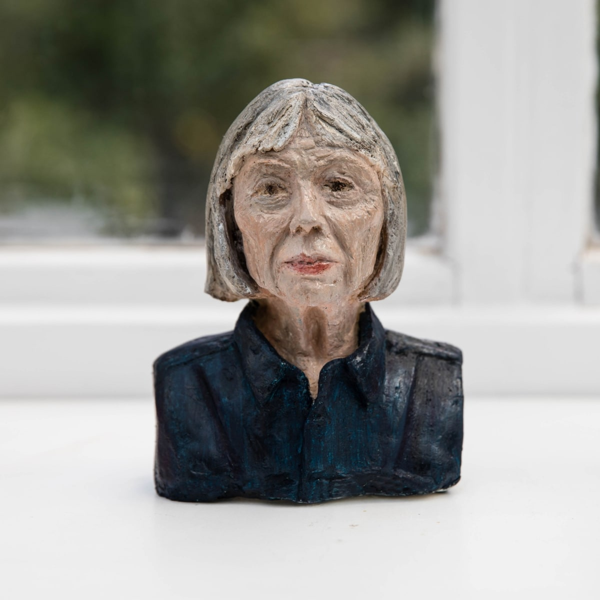 Nicole Farhi Joan Didion ciment fondu and acrylic; hand-painted bronze casts available to purchase 18 x 13 x 6 cm edition of 7 + 3 APs