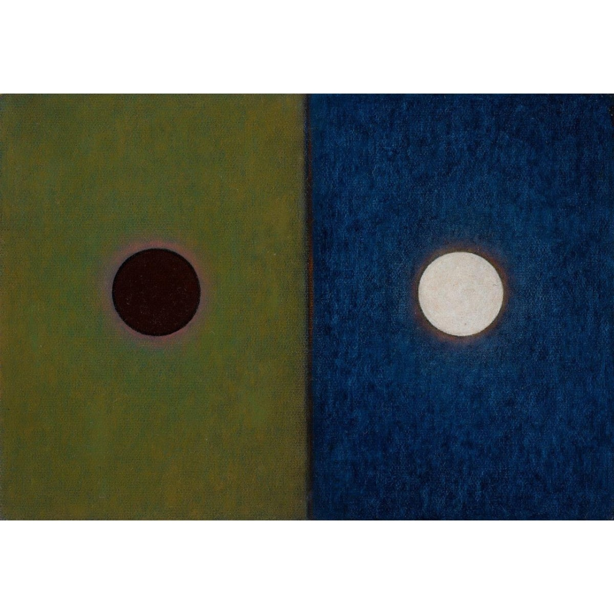 Emma Alcock Studies for Circles (1-3), 2015 oil on canvas 18 x 25 cm each