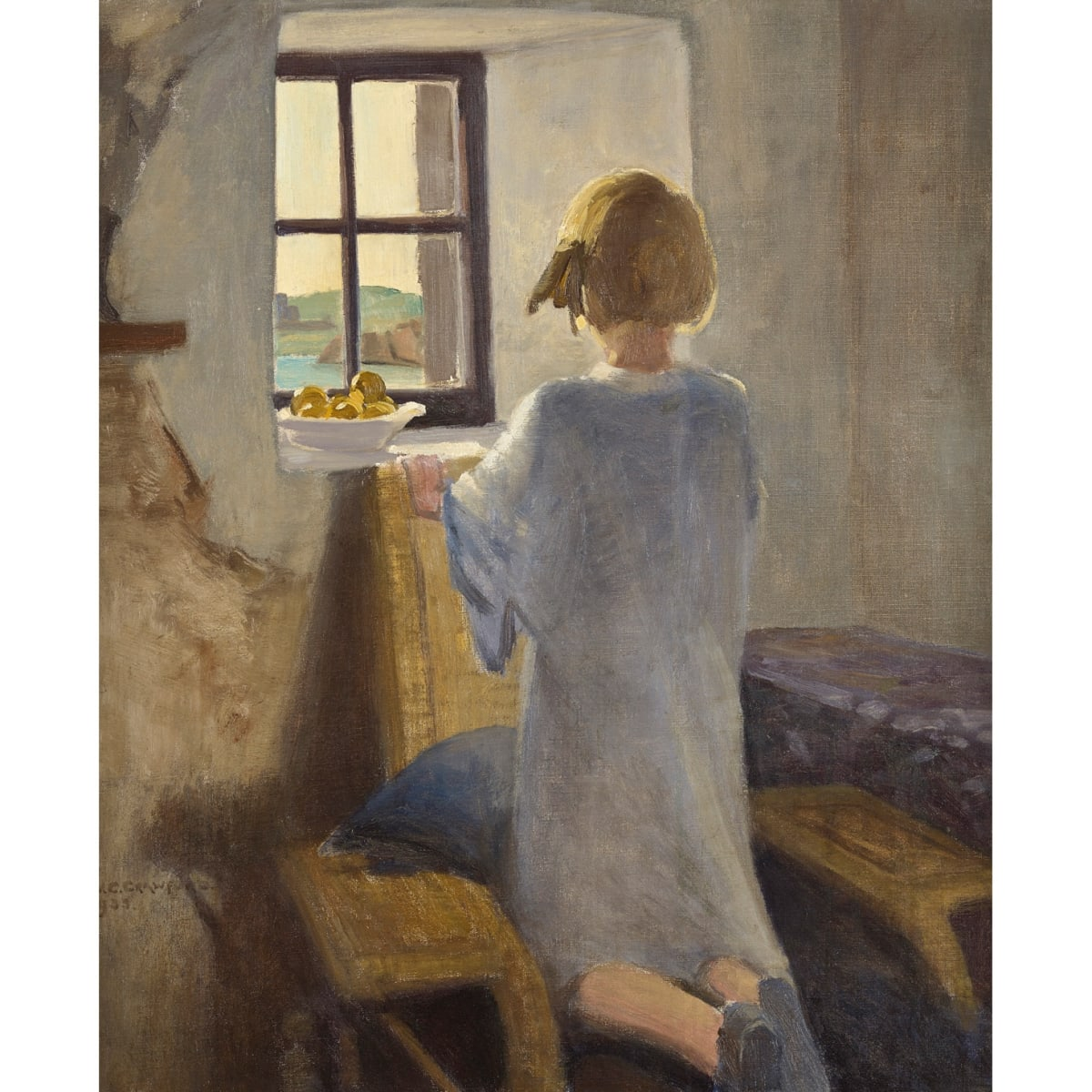 William Caldwell Crawford From the Croft Window, Mull, 1933 signed and dated 1933 oil on canvas 30 x 25 inches