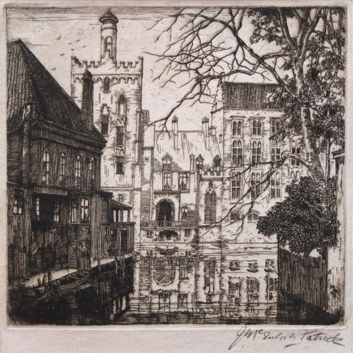 James McIntosh Patrick Bruges signed in pencil to margin etching plate size: 5 7/8 x 6 1/8 inches; sheet size: 8 9/16 x 7 1/8 inches