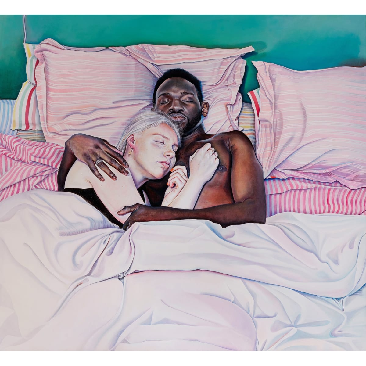 Ishbel Myerscough Lily and Quaye, 2019 oil on canvas 127 x 116.8 cm