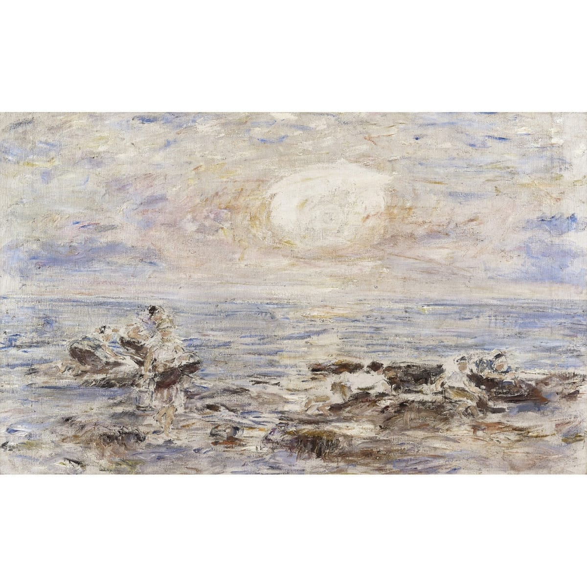 William McTaggart Bait gatherers - sunset, c.1907 oil on canvas 41 x 65 inches