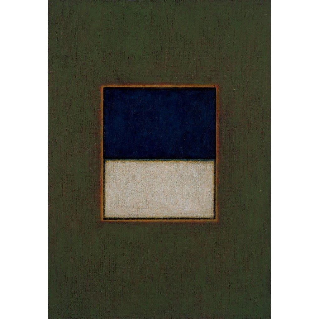 Emma Alcock Green, Blue, White (1 - 4), 2016 oil on canvas 25.5 x 18 cm each