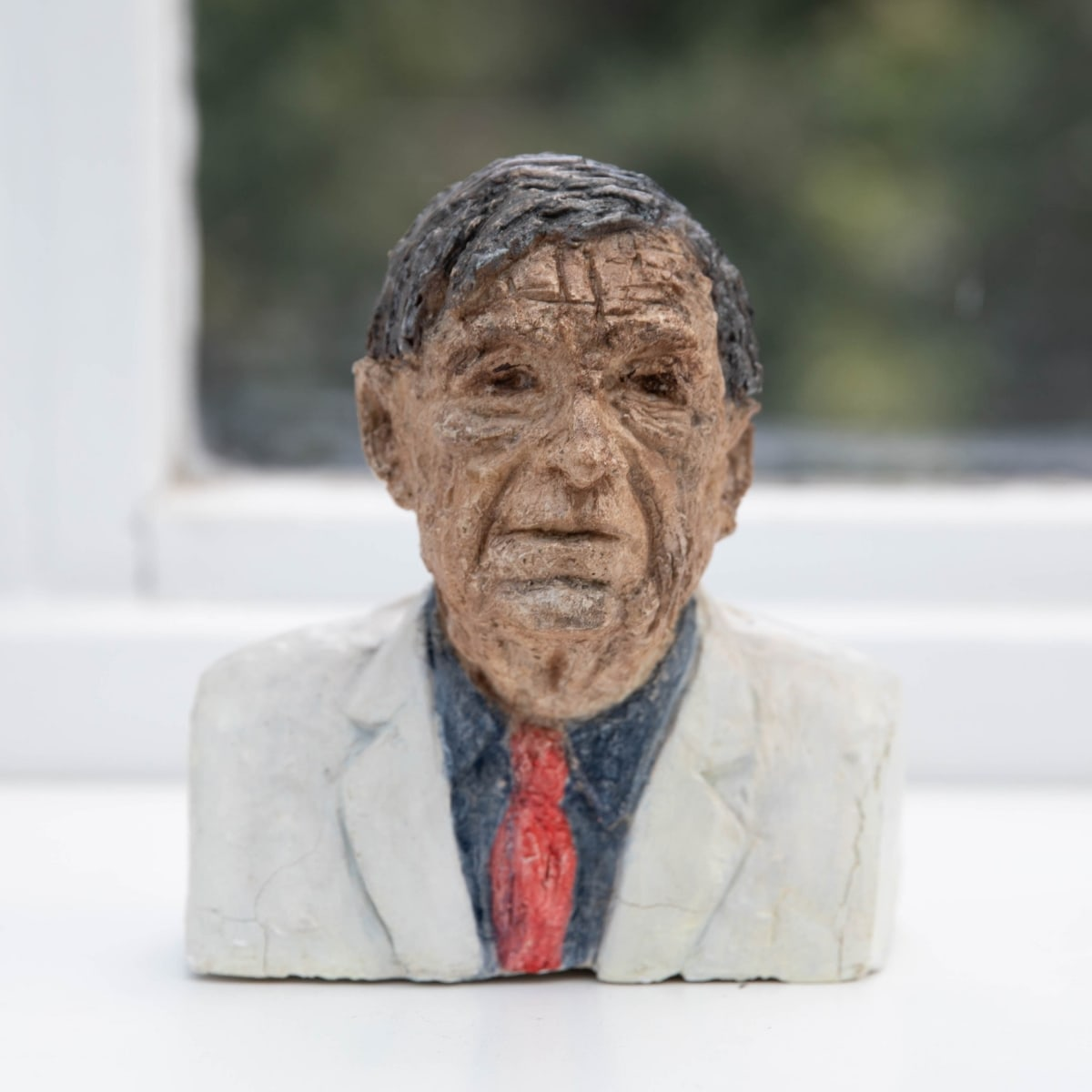 Nicole Farhi W. H. Auden ciment fondu and acrylic; hand-painted bronze casts available to purchase 18 x 15 x 7 cm edition of 7 + 3 APs