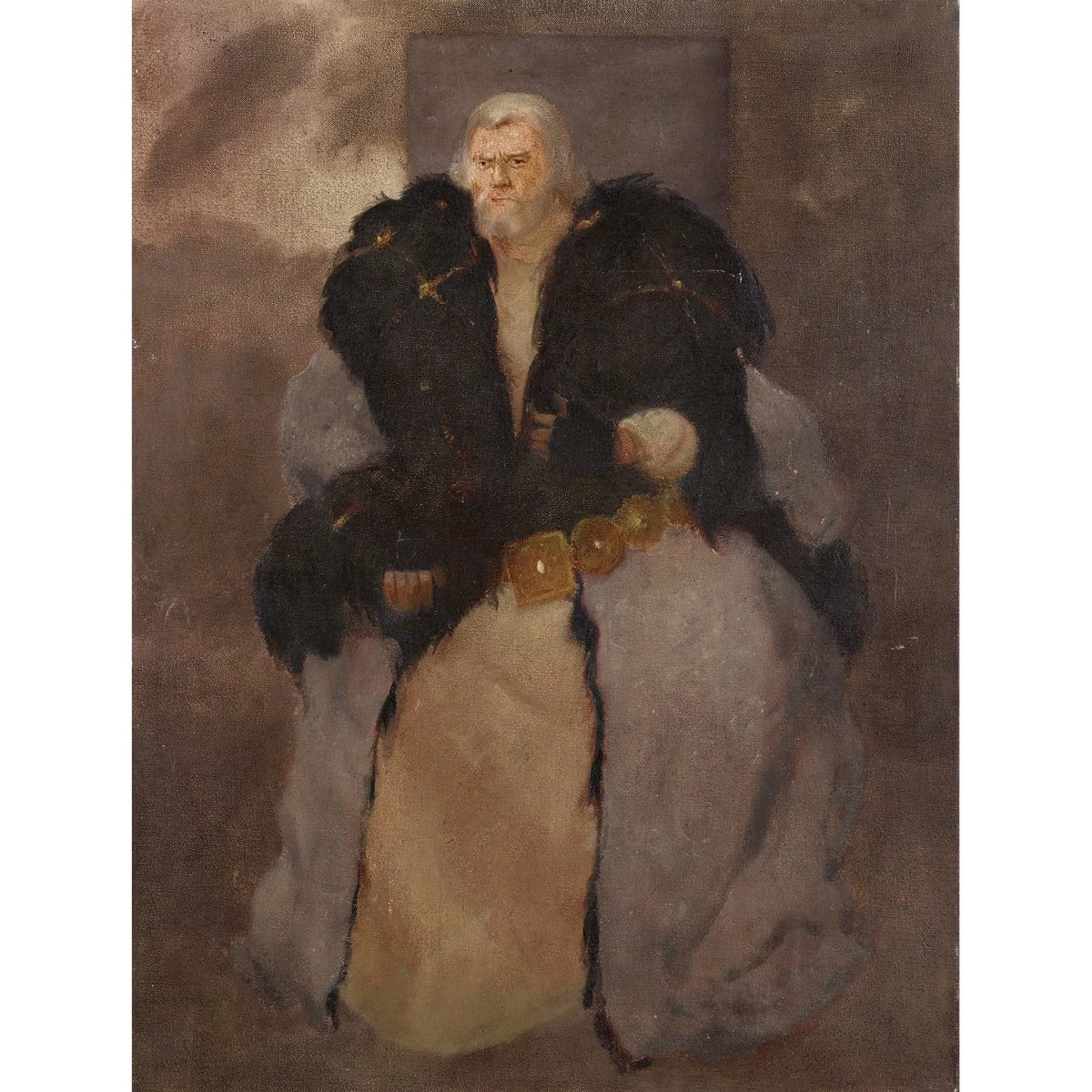 John Halliday No 21, John of Gaunt in Richard II - Paul Hardwick signed and titled on canvas verso oil on canvas 24 x 18 inches