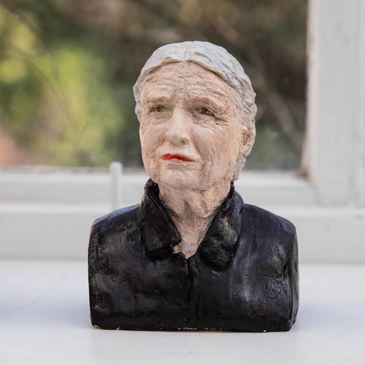 Nicole Farhi Doris Lessing ciment fondu and acrylic; hand-painted bronze casts available to purchase 18 x 15 x 7 cm edition of 7 + 3 APs