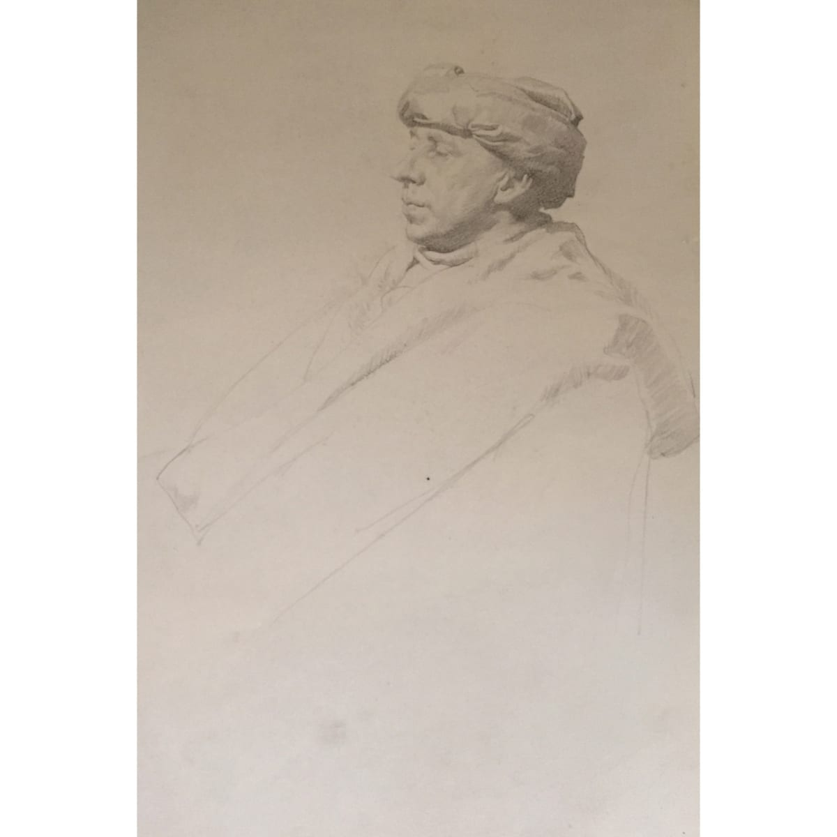 John Bulloch Souter Man with Turban pencil on paper 14 x 10 inches