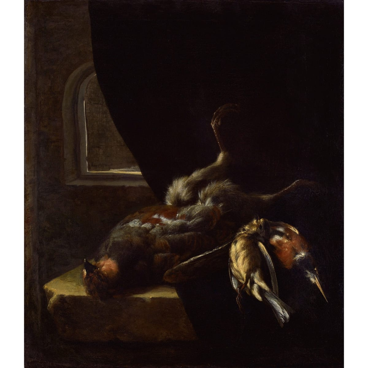 William Gouw Ferguson Still life with game birds oil on canvas 19 3/4 x 17 1/4 inches