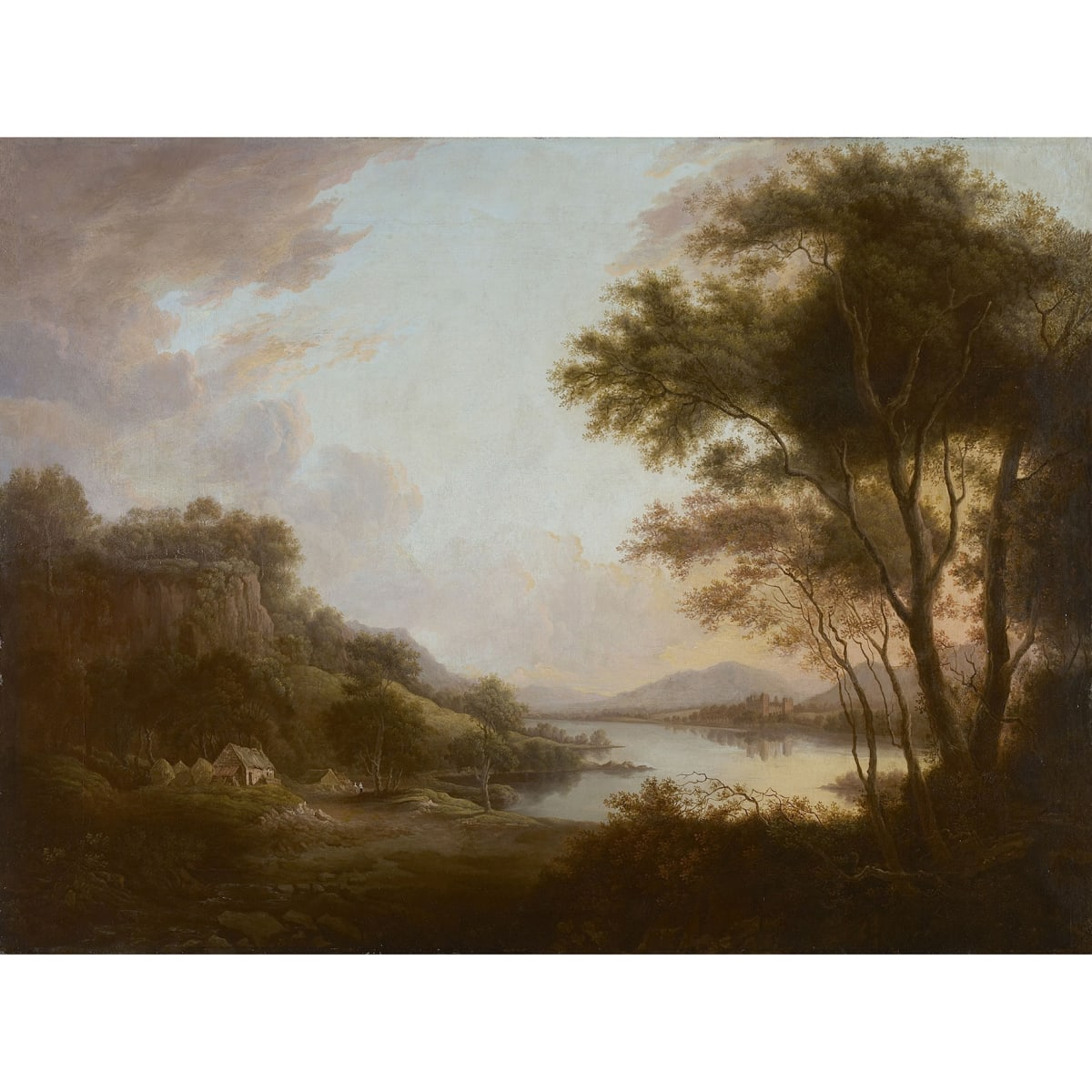 Alexander Nasmyth Elcho Castle from the Tay oil on canvas 27 x 35 inches