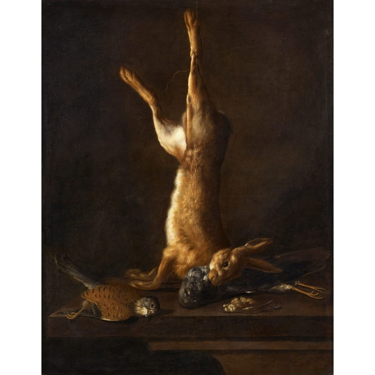 Attr. William Gouw Ferguson Still life with hare oil on canvas 42 3/4 x 33 1/2 inches