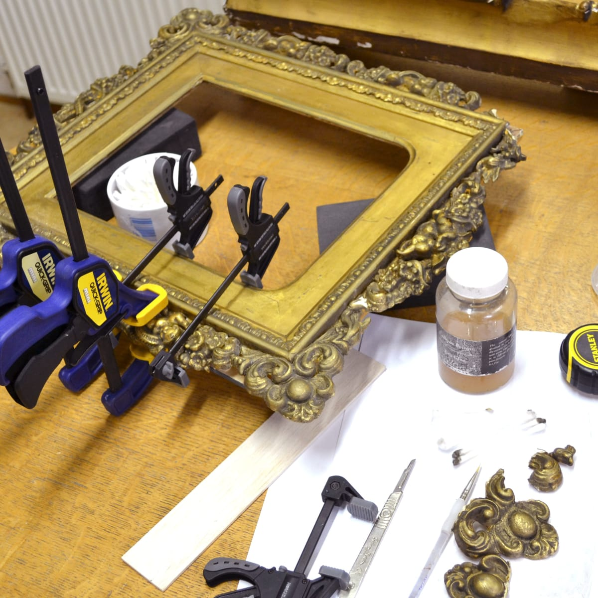 Conservation: frames, paintings, works on paper, objects