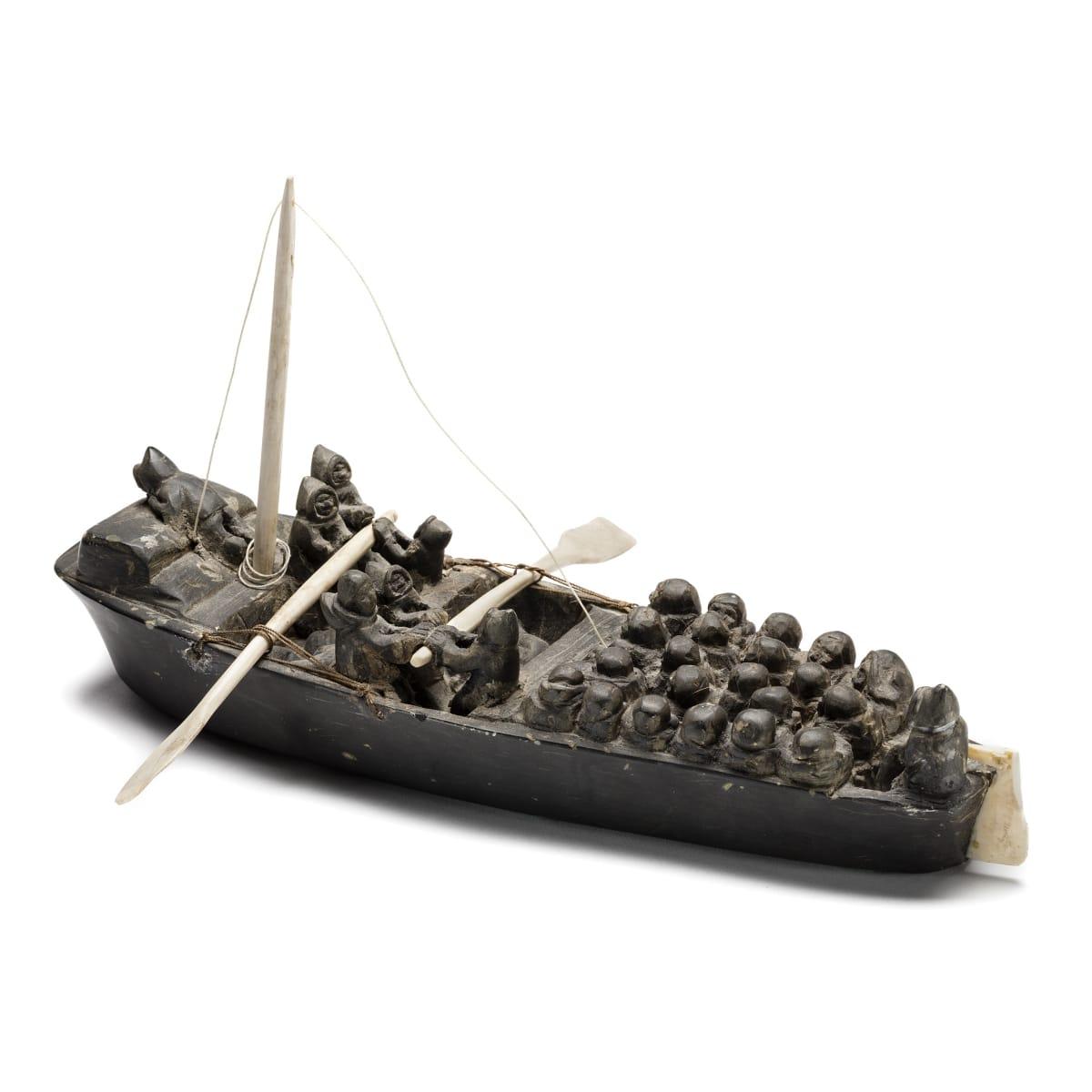 ENNUTSIAK (1896-1967) IQALUIT (FROBISHER BAY) Umiaq Migration, late 1950s ESTIMATE: $25,000 — $35,000 PRICE REALIZED: $66,000