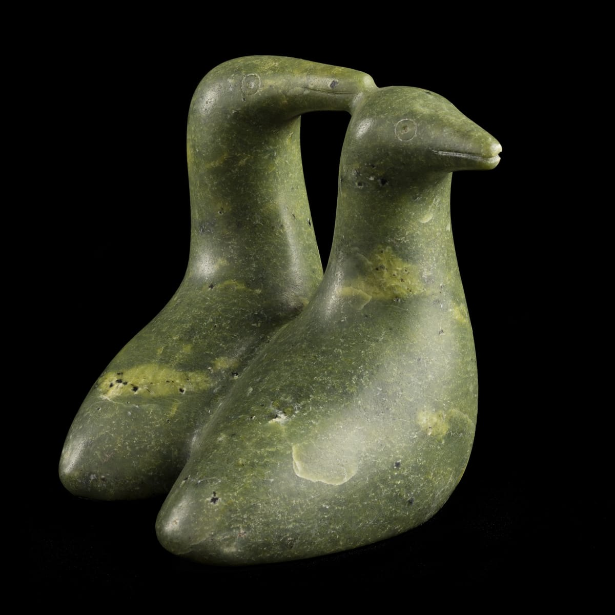 SHARKY NUNA (1918-1979) KINNGAIT (CAPE DORSET) Bird Couple REALIZED: $1,440