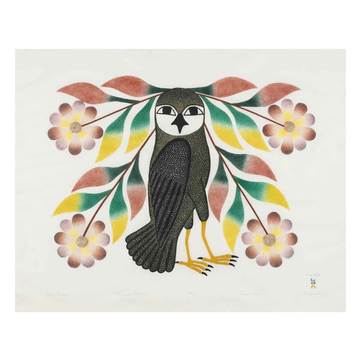 KENOJUAK ASHEVAK, C.C., R.C.A (1927-2013) KINNGAIT (CAPE DORSET) Owl's Bouquet, 2007 REALIZED: $7,800