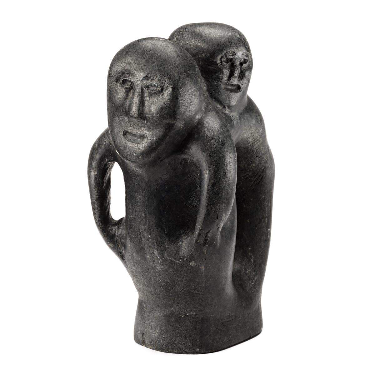JOHN TIKTAK, R.C.A. (1916-1981) KANGIQLINIQ (RANKIN INLET) Two Figures, c. 1968 REALIZED: $36,000